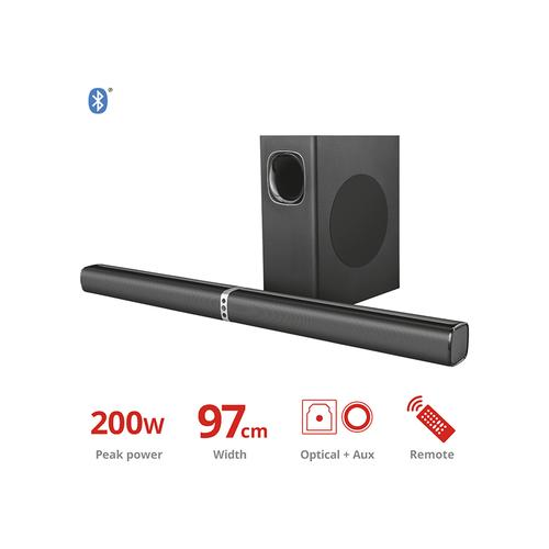 Tv-soundbar met subwoofer